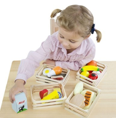 wooden food toys food groups