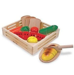 Melissa & Doug wooden cutting food play set