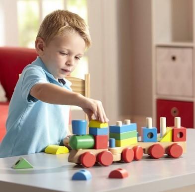 melissa and doug stacking train