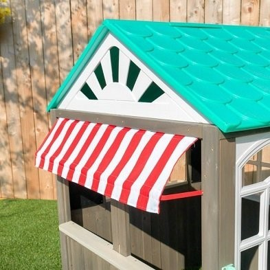 coastal cottage playhouse by Kidkraft canopy