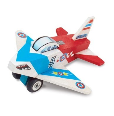 wooden jet plane kids crafts