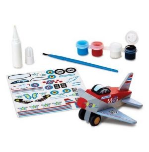 melissa and doug craft kits decorate your own wooden jet plane