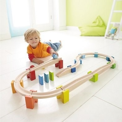 haba my first ball track with child