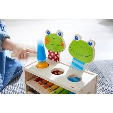 haba hammer bench frog