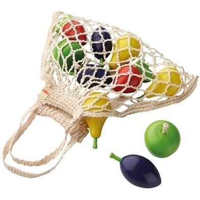 haba shopping bag toy fruit