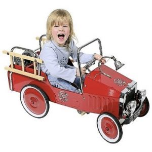 Fire Engine Flame Red Pedal Truck