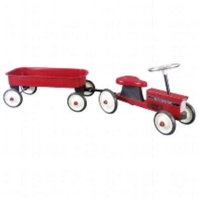 Goki Ride On Tractor with Trailer