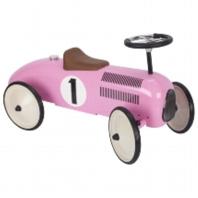 Pink Ride On Racing Car