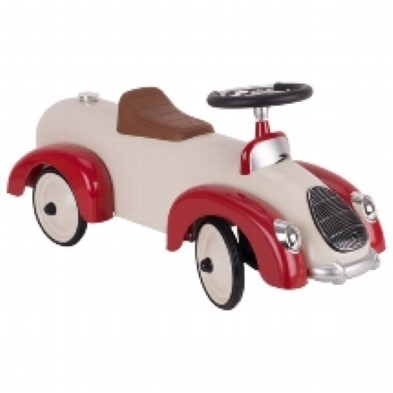 Classic Speedster Ride On Car Beige and Red