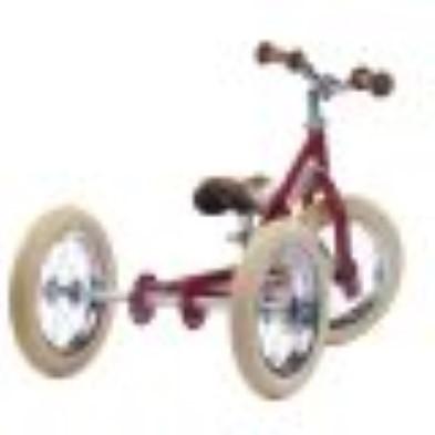 trybike 2 in 1 vintage red back