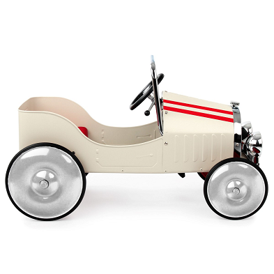 baghera white pedal car side