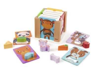 T-0209 Tidlo Animal Sorting Cube 002