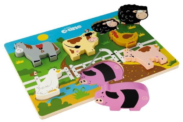 T-0018 Tidlo Chunky Farm Puzzle 001