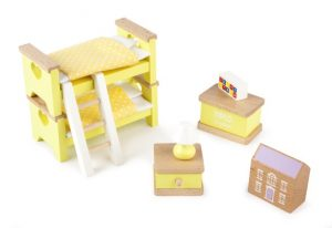 T-0223 Tidlo Children's Bedroom Dolls House Furniture 001