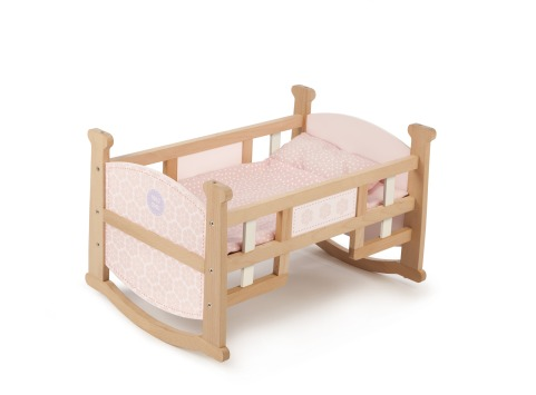 T-0212 Tidlo 2 in 1 Dolls Cradle as bed 002