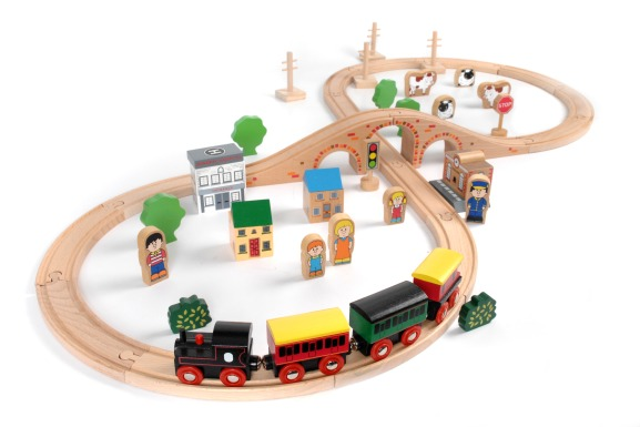 T-0097 Tidlo 50 Piece Train Set 001