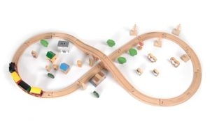 Tidlo 50 Piece Wooden Train Set