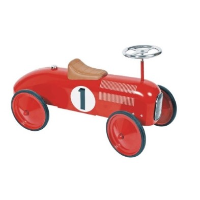 14135 Red Classic Metal Ride on Car 001