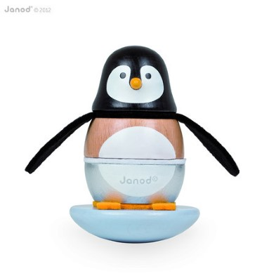 J08127 Janod Penguin Stacker and Rocker 001