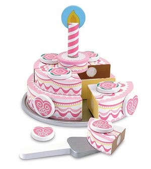 Melissa & Doug Triple Layer Party Cake wooden play food 001
