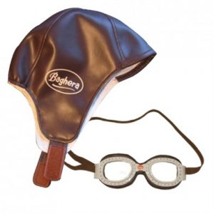 Baghera Childs Racing Hat and Goggles Set