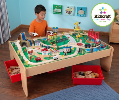KidKraft Waterfall Mountain Train Table and Set from The Toy Centre UK