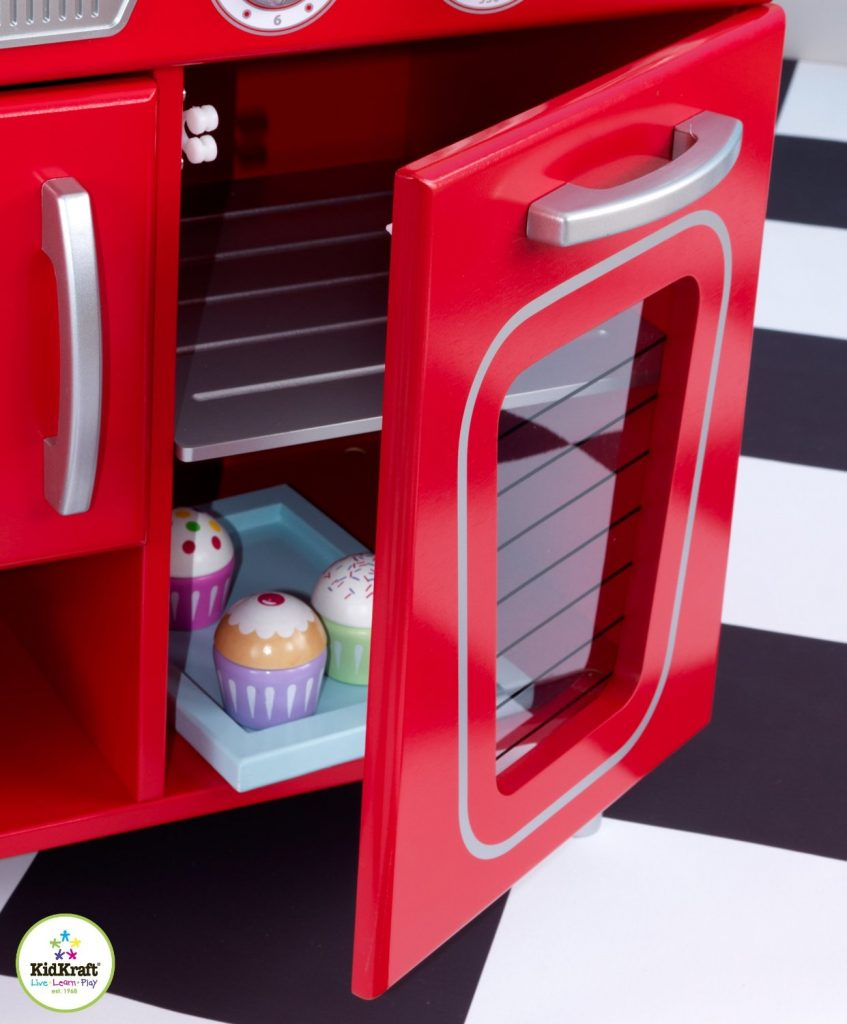 ZZKK53173 Kidkraft Red Vintage Kitchen 004