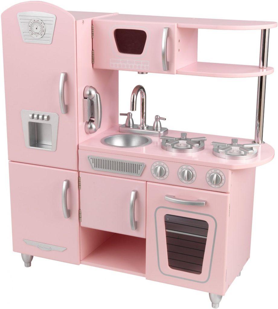 ZZKK53179 Kidkraft Pink Vintage Kitchen 001