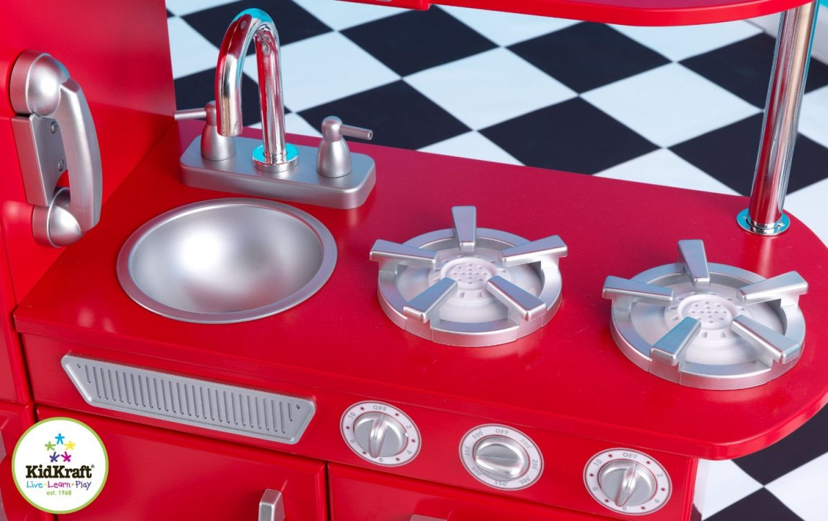 ZZKK53173 Kidkraft Red Vintage Kitchen 003