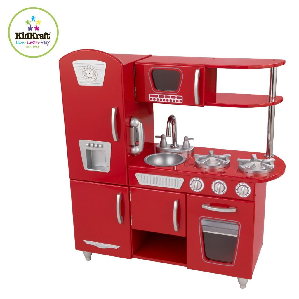ZZKK53173 Kidkraft Red Vintage Kitchen 001