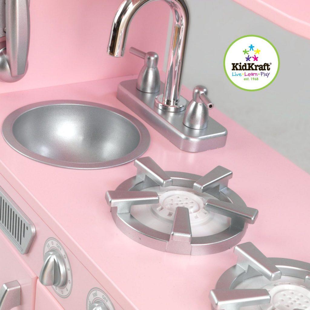 ZZKK53179 Kidkraft Pink Vintage Kitchen 003