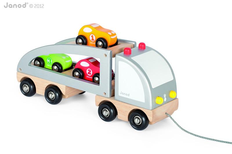 J05603 Janod Multi Cars Truck 002