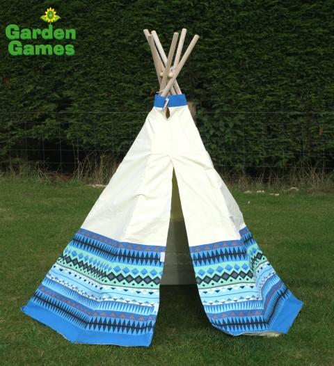 GG3042 Blue Aztec Wigwam Play Tent 001