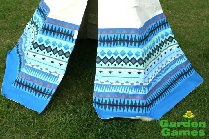 GG3042 Blue Aztec Wigwam Play Tent 003