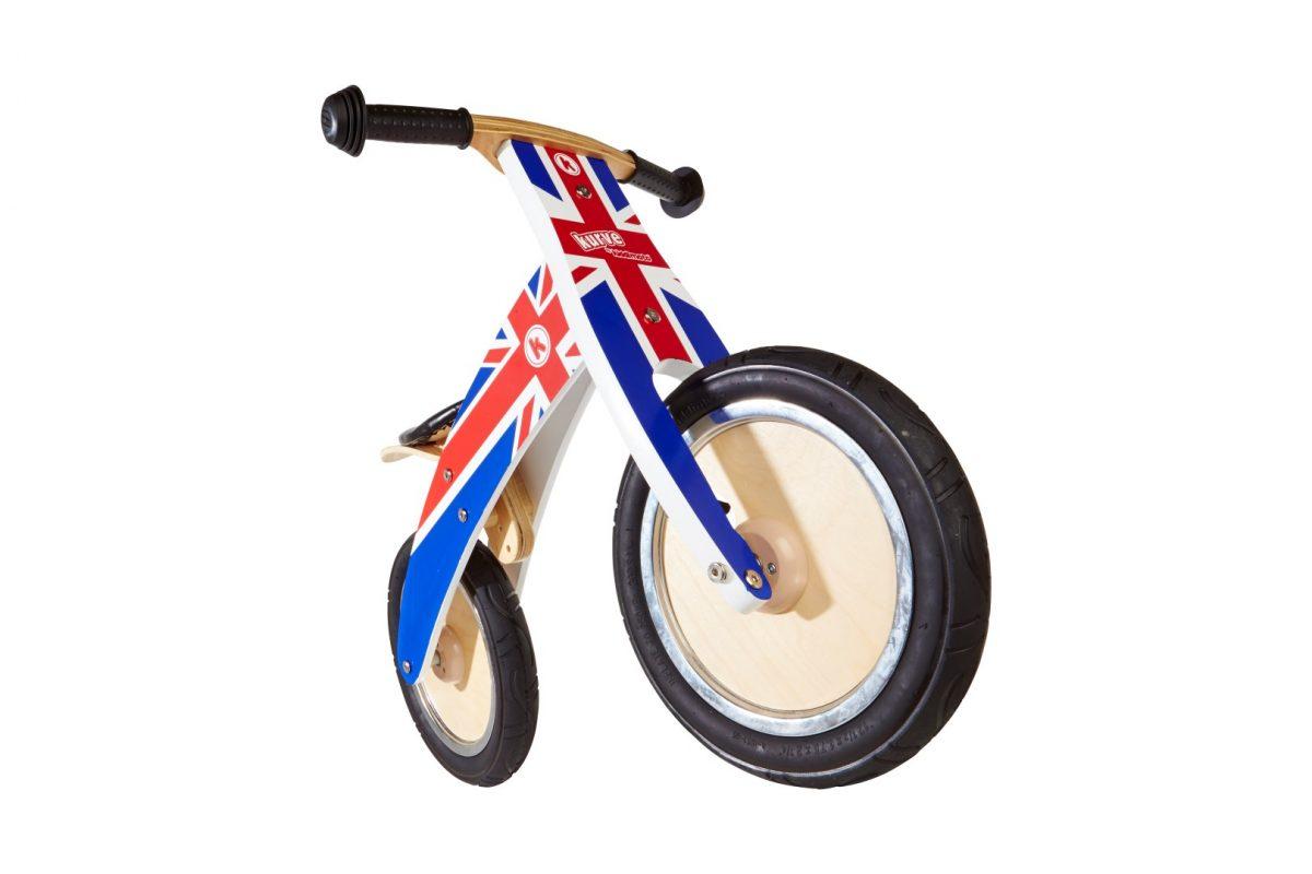 KM601 Kiddimoto Kurve Union Jack Balance Bike  00