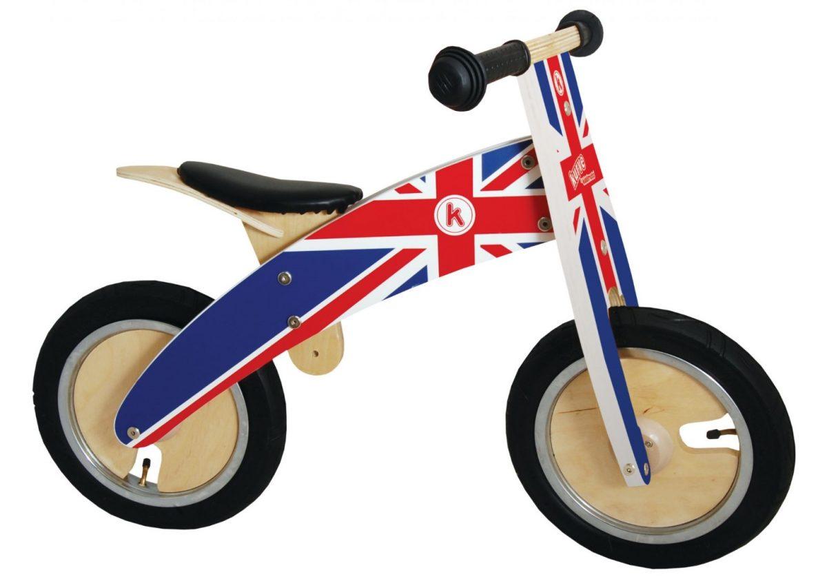 KM601 Kiddimoto Kurve Union Jack Balance Bike  001