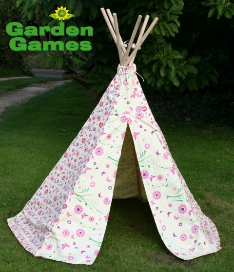 Flower and Butterfly Wigwam Play Tent