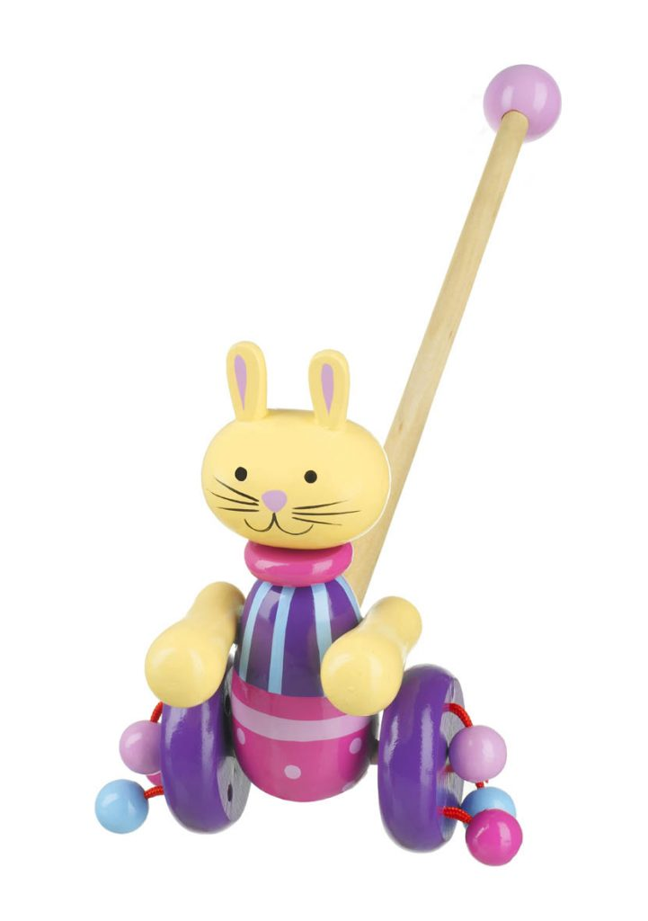 RY91T1308 Orange Tree Toys Push Along Rabbit 001
