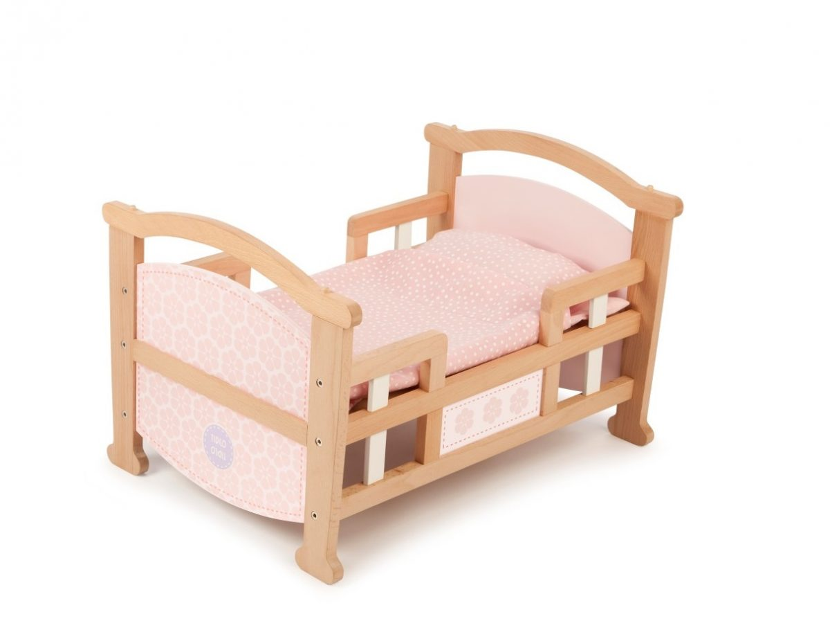 T-0212 Tidlo 2 in 1 Dolls Cradle as bed 001