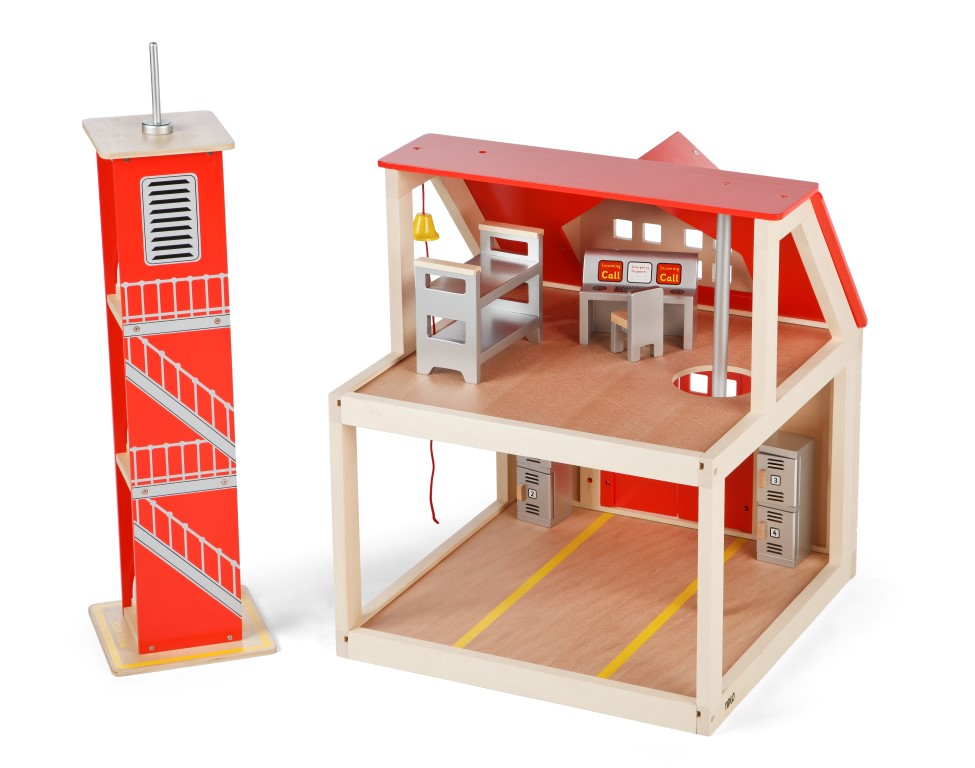 T-0116 Tidlo Fire Station Set with Training Tower  002
