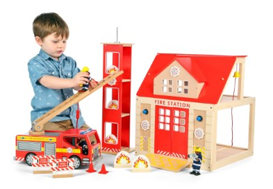 T-0116 Tidlo Fire Station Set with Training Tower  004