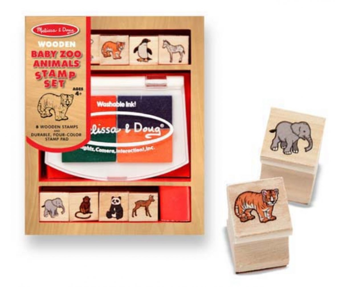 Melissa and Doug Baby Zoo Animals Stamp Set