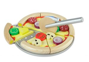 Tidlo Pizza Set wooden play food