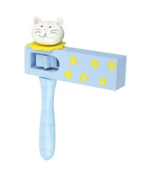RY1097 Orange Tree Toys Cat Turning Clacker 001