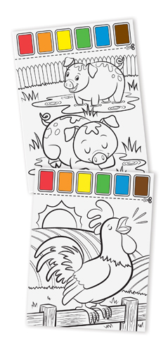 MD14165 Melissa and Doug Paint with Water - Farm Animals 002