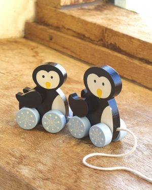 Orange Tree Toys Wooden Pull Along Penguins