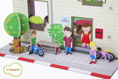 K-304  Murielle City Dolls House Playset by Krooom 004