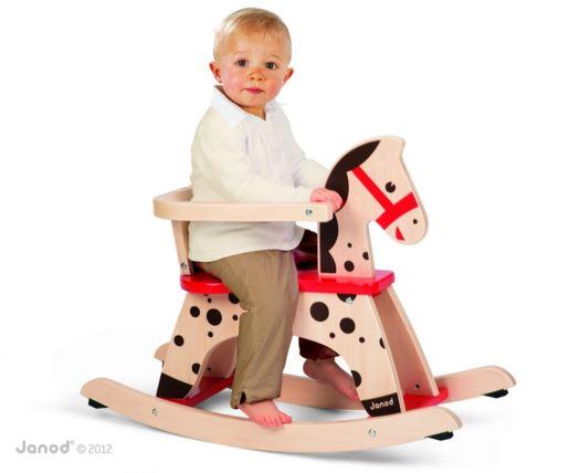 J05984 Janod Caramel Wooden Rocking Horse 002