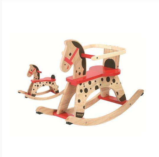 J05984 Janod Caramel Wooden Rocking Horse 001