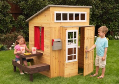 ZZKK-00182  KidKraft Modern Outdoor Wooden Playhouse 001